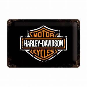 Plaque De Metal : plaque en m tal 20 x 30 cm harley davidson logo de la marque deco envie com ~ Teatrodelosmanantiales.com Idées de Décoration