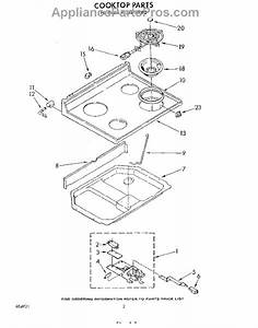 Parts For Whirlpool Rf365pxww0  Cooktop Parts