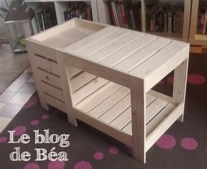 Comment Fabriquer Une Table De Ferme En Bois : diy table basse en bois de palette avec coffre de rangement le blog de b a ~ Louise-bijoux.com Idées de Décoration
