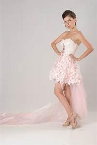 Pink wedding dress dressed up girl for Short pink wedding dresses