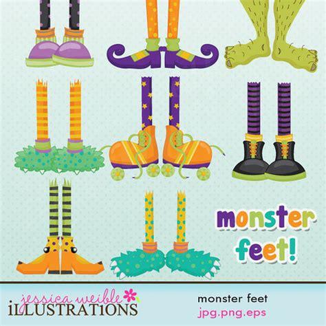 Halloween Monster Feet Clip Art