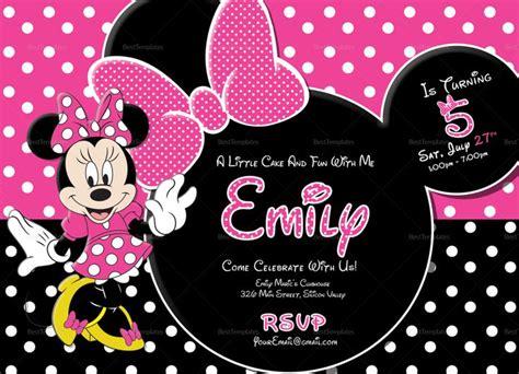 special minnie mouse birthday invitation template minnie