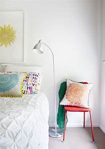 Bedroom white with pops of color | Nesting | Pinterest