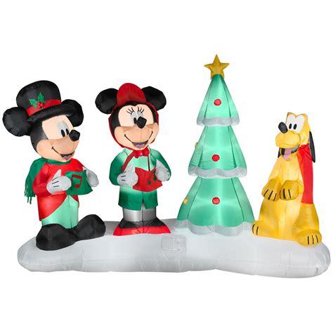 disney lightshow mickey choiring airblown christmas