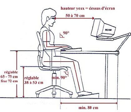 hauteur bureau ergonomie ergonomie sur le lieu de travail accueil