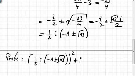gleichungen und pq formel mit komplexen zahlen youtube