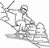 Coloring Skiing Sky Winter Coloringsky Try sketch template