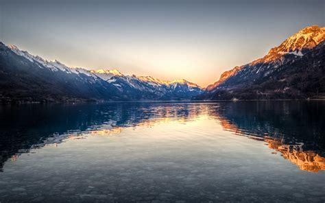 wallpaper lake brienz interlaken lake switzerland