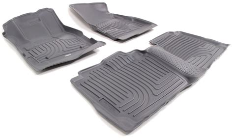 floor mats equinox 2012 chevrolet equinox husky liners weatherbeater custom auto floor liners front and rear gray