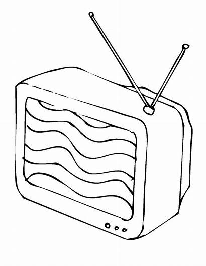 Tv Coloring Pages Watching Coloringtop