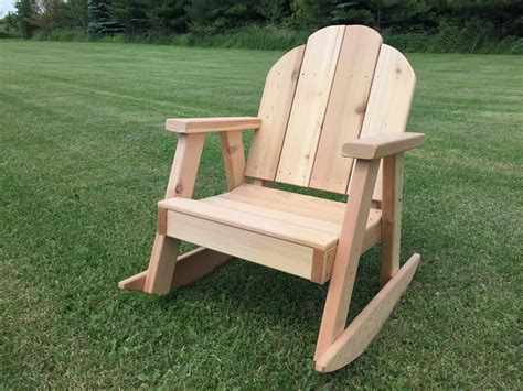 comfortable ozark rocking chair  western red cedar