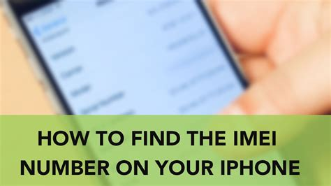 how to find an iphone how to find the imei number on your iphone