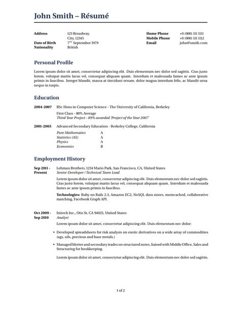 Latex Templates » Curricula Vitaerésumés. Resume Maker Upload. Resume Job Objective. How To Write Cover Letter Singapore. Lebenslauf Englisch Personal Profile. Cover Letter Writing Guide Pdf. Letter Format Upsr. Curriculum Vitae Modelo Tecnico Informatico. Help In Cover Letter