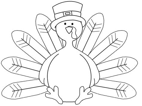 Coloring Turkey Pictures by Best Turkey Clipart Black And White 1500 Clipartion