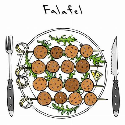 Arugula Falafel Arabic Israel Vegetarian Fast Healthy