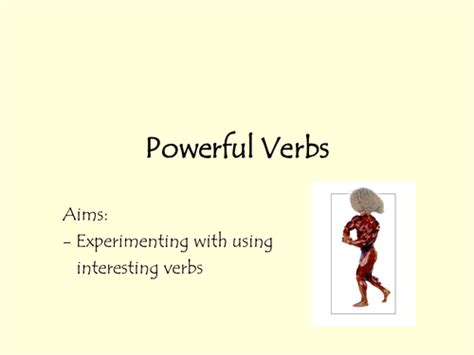 powerful verbs  rec teaching resources tes