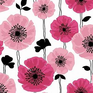Brewster Home Fashions - Darcy Magenta Modern Floral