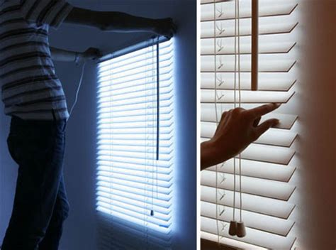 blind light faux wall hung daylight  led window blinds