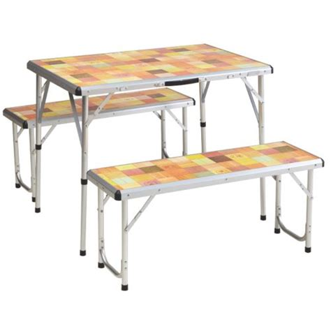 folding cing table coleman compact folding table deck chair with table coleman