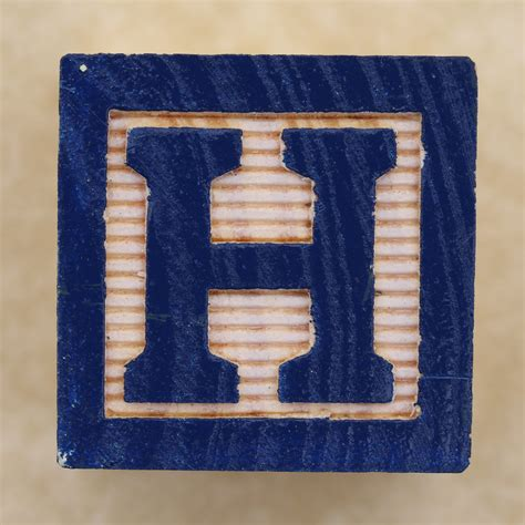 block letter h educational block h flickr photo 54182