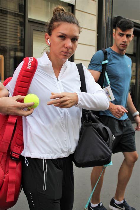 Simona Halep - Leaving Her Hotel in Paris 05/28/2018