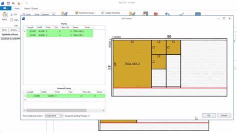cut pattern optimization software wood industry