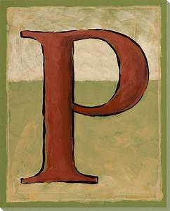 block letter p wrapped canvas giclee art print wall art With block letter wall decor