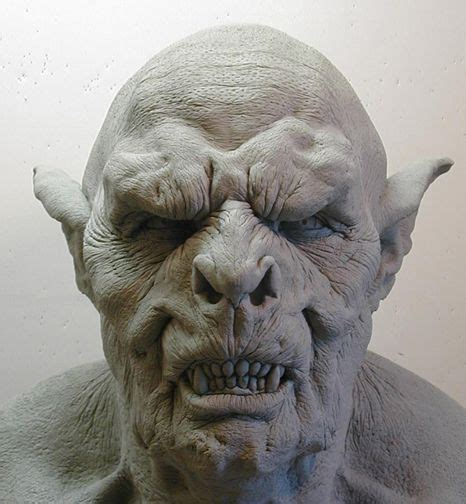 orc mask  clay  dreamfloatingbydeviantartcom