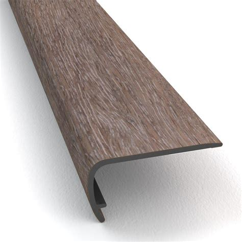 vinyl plank flooring stair nose shop stainmaster 2 in x 94 in washed oak dove vinyl stair nosing at lowes com