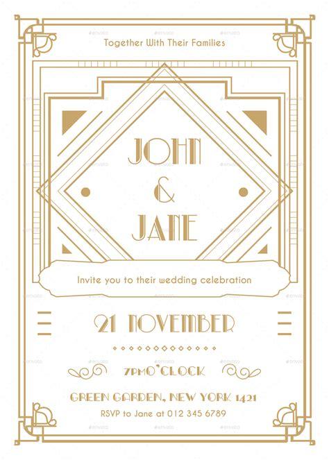 deco invitation templates deco wedding invitation by infinite78910 graphicriver