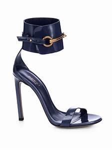 Lyst - Gucci Ursula Patent Leather Horsebit Ankle-Strap