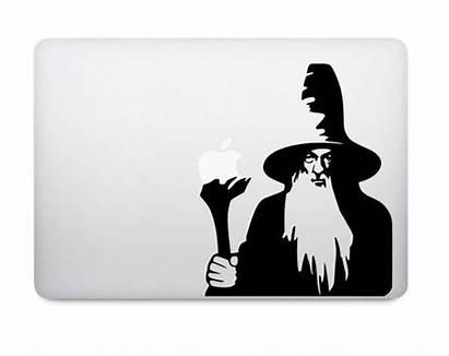 Gandalf Lord Rings Silhouette Macbook Adesivo Lotr