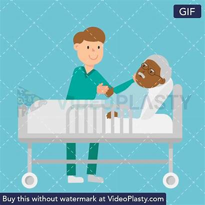 Nurse Patient Care Gifs Bed Taking Animated
