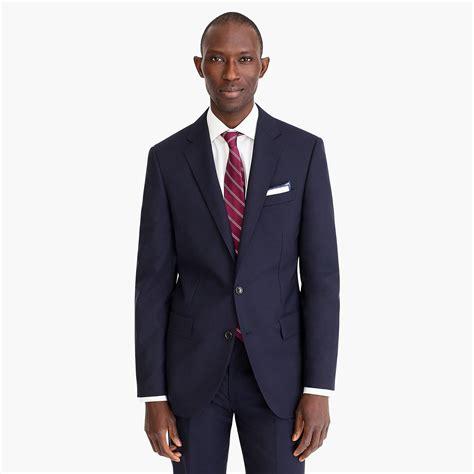 jcrew ludlow slim fit suit jacket  double vent  italian wool  deep navy blue  men