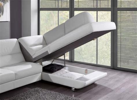 canape cuir moderne canapé convertible design avec coffre de rangement