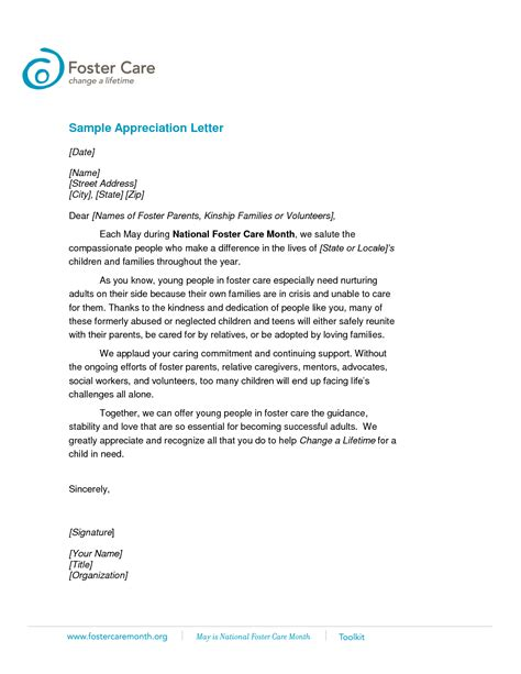 appreciation letter templates best photos of student appreciation letter template