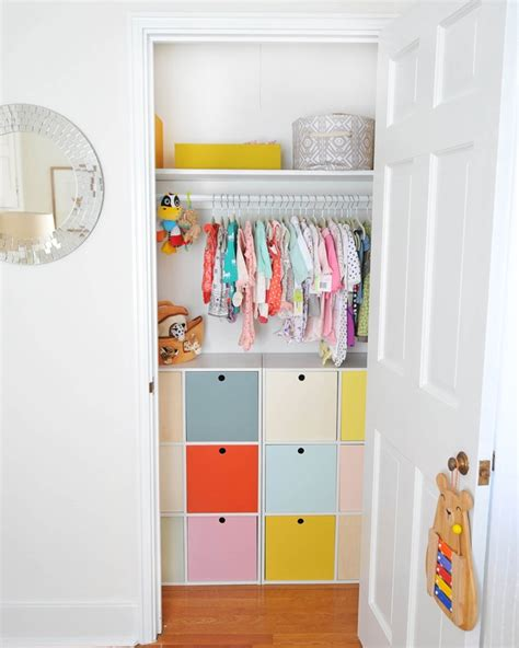 Colorful Closet by Organizing With Colorful Pretty Organizing Ideas