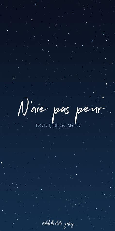 N'aie pas peur Don't be scared - Bonjour You are in the ...