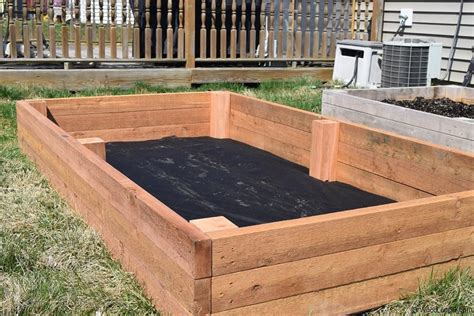 elevated garden bed raised garden bed woodlogger