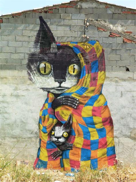 fanzara spain miau marries street art cats breaks