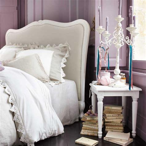 Elle s'adapte aux sommiers de 160 cm. Tête de lit en bois massif et coton L 160 cm Joséphine | Maisons du Monde