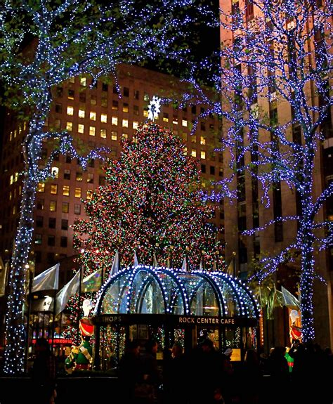 nyc nyc rockefeller center lights the iconic christmas tree