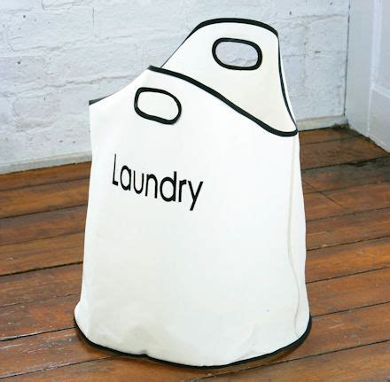 STORE   Round Canvas Laundry Bag