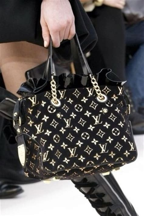 bag louis vuitton gold chain black monogram gorgeous