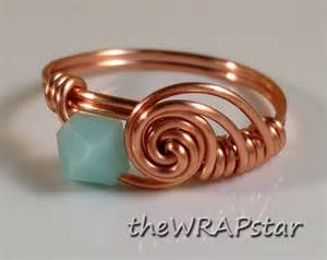 non nickel earrings copper ring wire wrapped jewelry handmade wire wrapped ring