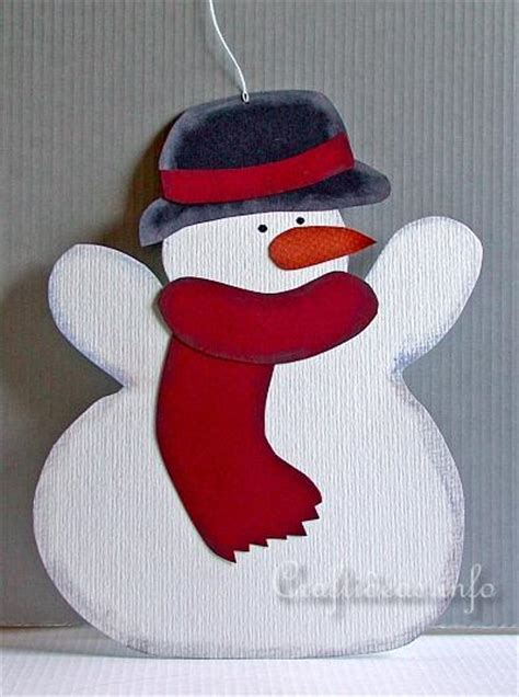 christmas  winter craft paper snowman decoration