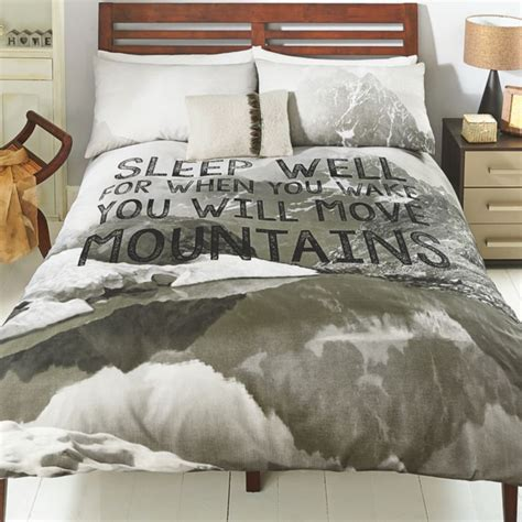 inspirational quote duvet cover set sleep