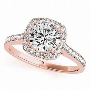 Cushion Cut Rose Gold Engagement Rings | Wedding, Promise ...