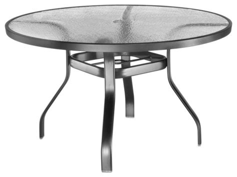 homecrest glass top 48 in patio dining table