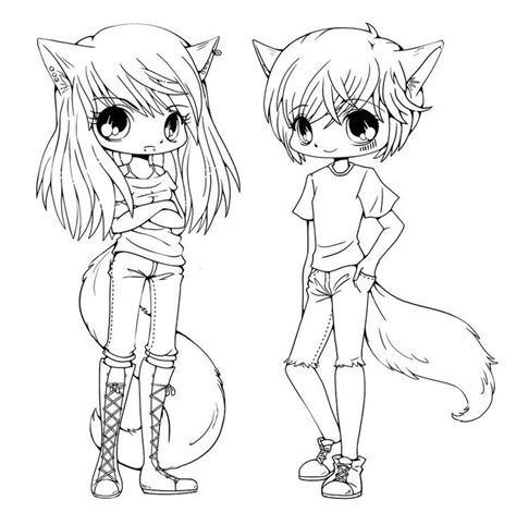 anime chibi couple coloring pages  print cartoon coloring pages animal coloring pages
